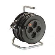 Prelungitor electric pe tambur de plastic 4 prize 40m cablu PVC 3x2,5 mm²