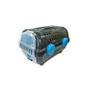 Caixa de Transporte Para Cachorro - Furacão Pet - Luxo - Tamanho 2 - Black com Azul