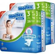 Moltex Fralda Premium Moltex T3 (4-10 kg) 52 uds