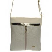 Zlato-béžová elegantní crossbody taška M198 GROSSO