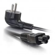 C2G Laptop Power Cord - Cabo de alimentação - IEC 60320 C5 para CEE 7/7 (M) - AC 250 V - 2 m - moldado - preto - Europa