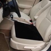 Warm pluche autostoelhoes autostoel zadel, grootte: 48cm x 48cm (zwart)-