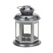 Mécsestartó lámpás ezüst 13cm A04426270