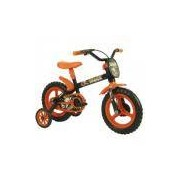 Bicicleta Track Bikes Arco Iris I - Aro 12 - Infantil - PRETO/LARANJA Track E Bikes