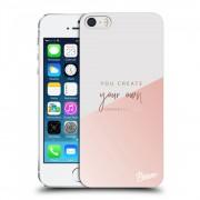 Átlátszó szilikon tok az alábbi mobiltelefonokra Apple iPhone 5/5S/SE - You create your own opportunities