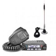 Pachet statie radio CB Avanti Supremo microfon cu functii + antena CB Bytrex MiniPlus