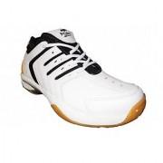 Port Men's SPARK White Synthetic PVC Badminton Shoes