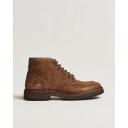Astorflex Moc Toe Lace Up Boot Khaki Suede