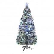 vidaXL Изкуствено коледно дърво със стойка/LED, 180 см, 220 клона