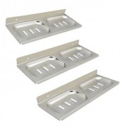 Stainless Steel Square Soap Dish-Set of 3
