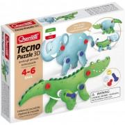 Quercetti tecno puzzle 3d elefante & coccodrillo 0541