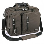 FreeBiz Laptop Bag 17 Inch Laptop Backpack Multi-Function Briefcase with Handle and Shoulder Strap Fits Up to 17.3 Inch Laptops (17.3 Inches, Army Gre