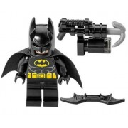 The LEGO Movie - Batman Minifigure with Dual-sided Face Smiling and Scowling with Batarang and Harpoon Gun from set 70817