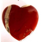 Pendentif coeur jaspe rouge percé