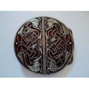 Hebilla celta caras