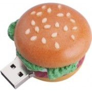 Microware Burger Shape 16gb Pendrive 16 GB Pen Drive(Brown)