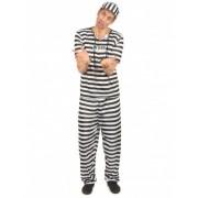 Disfraz de preso para hombre Talla única (42)