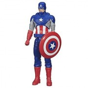 Hasbro Avengers Captain America Titan Hero Figure Multi Color (12-inch)