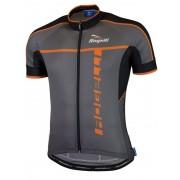 ultrakönnyű kerékpáros mez Rogelli UMBRIA 2.0 rövid ujj, szürke-narancs 001.250.