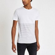 Jack and Jones Gestreept / Jack and Jones Premium - Wit gestreept T-shirt Heren