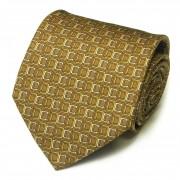 Горчично-коричневый галстук с печатным дизайном Celine 825899