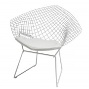 Knoll - Bertoia Diamond Outdoor-Sessel, weiß