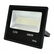 Proiector LED exterior 100W , lumina rece, 9000lm IP66 ,negru