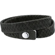 Unknown The Jewelry Collection For Men Armband - Leer - 21cm
