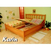 KA-07 RIN celomasivní postel vč. matrace a polohovacího roštu 180 x 200 cm