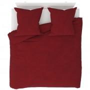 vidaXL Set husă pilotă, 3 piese, roșu vin, 200 x 220/80 x 80 cm fleece