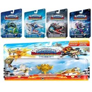 Skylanders Superchargers 5 Pack Vehicle Starter Bundle Vehicles, 1 Trophy, Character: Crypt Crusher, Sea Shadow, Sky Slicer, Dive Bomber, and Racing Action Sun Runner, Astroblast, Trophy