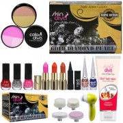 Skin Beauty Care Combo Makeup Set with 5in1 Massager Set of 14 GC575-By Adbeni