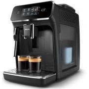 Espressor Automat Philips Series 2000 EP2221/40, 15 bar, 12 Setari de macinare, Afisaj tactil, Rezervor 1.8 l, Setare Eco (Negru lucios)