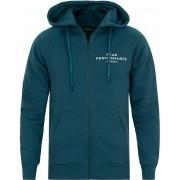Peak Performance Logo Zip Hoodie Teal Extreme