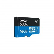 Lexar High-Performance MicroSDHC 633x 16GB UHS-I Card W/SD Adapter - LSDMI16GBBNL633A
