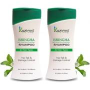 KAZIMA Bringha Anti Hair Fall Control Shampoo (200ml Pack of 2) For Clean Gently Nourish Hair Falling Hair Intensive Hair Growth Treatment - Contains power of 9 bringha plants