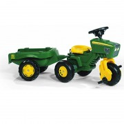 Tractor Cu Pedale Si Remorca Copii ROLLY TOYS Verde