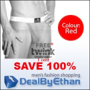 Twink Solid Bikini FREE Men's Underwear Red