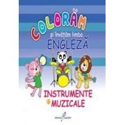 Coloram si invatam limba engleza. Instrumente muzicale, Vol. 6/Roxana Geanta