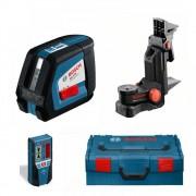 """Nivela laser Bosch GLL 2-50 + receptor laser BM 1, + suport universal LR 2 Professional, 635 nm, 20 m, 1/4"""", 0.45 kg, 0601063109"""