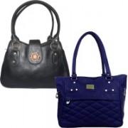 Element Cart Women Black, Blue Messenger Bag(Pack of: 2)