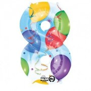 Balon folie Cifra 8 imprimat baloane 53 * 88 cm