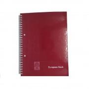 Caiet European Book A5 Dictando cu Dublu Spira Metalica, 80 File, Coperta Policromie Rosie, Caiet Spiralat de Romana, Caiete Tip Agenda