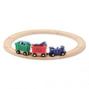2 Item Bundle: Melissa & Doug 644 Farm Animal Train Set + Free Gift Fits Thomas Train Tracks