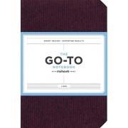 GoTo Notebook avec mohawk papier Mulberry Wine Doublé par Chronicle Books