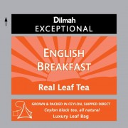 Dilmah Exceptional English Breakfast fekete tea 50 filter/doboz