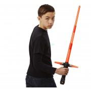 Cosplay Ren Kylo Star Wars Lightsaber con Luz Sonido Led rojo Espada Espada Láser De Plástico Armas de Juguete Juguete Niños legoe juguetes