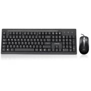 Kit teclado y mouse Acteck estándar USB negro, WKTE-005