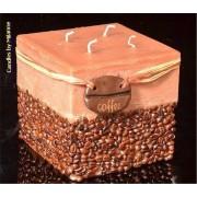 Designkaarsen com Koffiekaars Vierkant BRUIN xxl - kaarsen