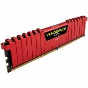 Corsair DDR4, 2400MHz 8GB 1 x 288 DIMM, Unbuffered, 14-16-16-31, Vengeance LPX Red Heat spreader, 1.20V, XMP 2.0, Supports 6th Intel Core i5/i7 CMK8GX4M1A2400C14R